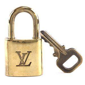 Louis Vuitton Gold Keepall Speedy Lock Key Set#347